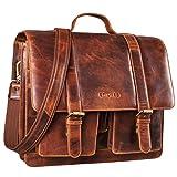 STILORD 'Marius' Klassische Lehrertasche Leder Schultasche XL groß Aktentasche zum Umhängen Businesstasche...