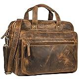 STILORD 'Walt' Vintage Aktentasche Leder Herren Damen Lehrertasche XL groß Büro Business Umhängetasche für 15,6...