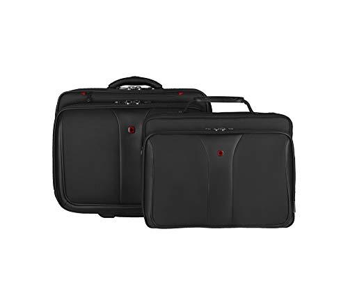 Wenger 600662 PATRIOT 17' 2-teiliger Laptop-Trolley, gepolsterte Laptoptasche mit Rollen und passende 15.4'...