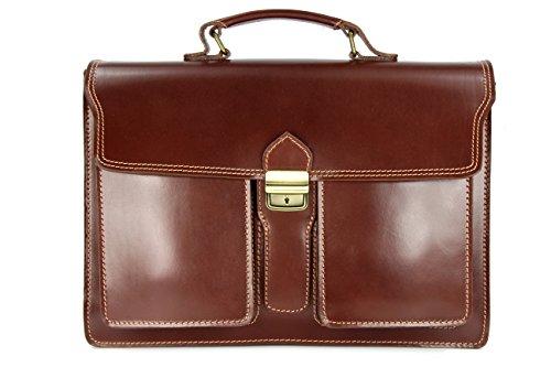 Belli 'Design Bag B ital. Leder Businesstasche Arbeitstasche Messenger Aktentasche Lehrertasche Laptoptasche unisex...
