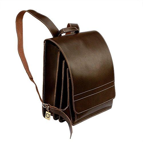 Sehr Großer Lederrucksack/Lehrerrucksack Größe XL aus Leder, für Damen und Herren, Braun, Modell 670