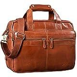 STILORD 'Explorer' Lehrertasche Leder Herren Damen Aktentasche Büro Schulter- oder Umhängetasche für Laptop mit...