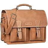 STILORD 'Jeffrey' Lehrertasche Aktentasche Leder Große Vintage Ledertasche zum Umhängen 15.6 Zoll Laptop Tasche...